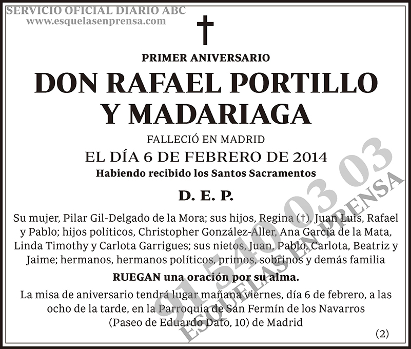 Rafael Portillo y Madariaga